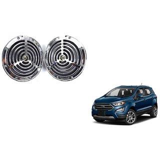 KunjZone Roots Megasonic Chrome Horn Set of 2 Pcs For Ford EcoSport