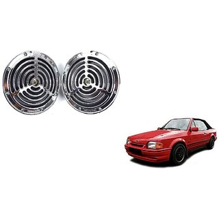 KunjZone Roots Megasonic Chrome Horn Set of 2 Pcs For Ford Escort