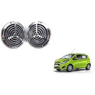 KunjZone Roots Megasonic Chrome Horn Set of 2 Pcs For Chevrolet Beat