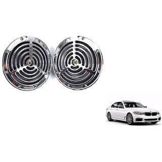 KunjZone Roots Megasonic Chrome Horn Set of 2 Pcs For BMW 5 Series