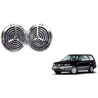 KunjZone Roots Megasonic Chrome Horn Set of 2 Pcs For Chevrolet forester