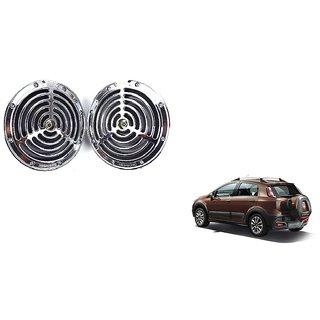 KunjZone Roots Megasonic Chrome Horn Set of 2 Pcs For Fiat Avventura