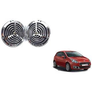 KunjZone Roots Megasonic Chrome Horn Set of 2 Pcs For Fiat Punto Evo