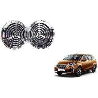 KunjZone Roots Megasonic Chrome Horn Set of 2 Pcs For Datsun go Plus