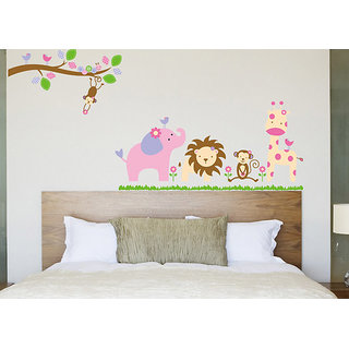 Asmi Collections PVC Wall Stickers Wall Decals Tree Branches Animals