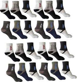 Pack Of 12 Z Decor Men Loafer Multicolour Cotton Socks