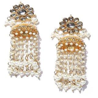 Ankur amazing gold plated pearl jumki earring for women