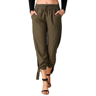 Texco Olive Stylish Knot Style Culottes for Women
