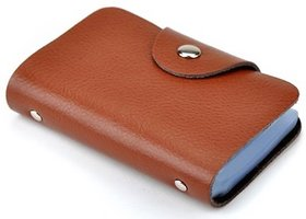 Brown Card Holder - 12 Cards slot for Men
