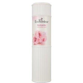 Enchanteur Romantic ,Body Perfumed Talc 200 G. (7.05 Oz) ,The exotic sensual fragrance of Bulgarian Rose and White Jasmine
