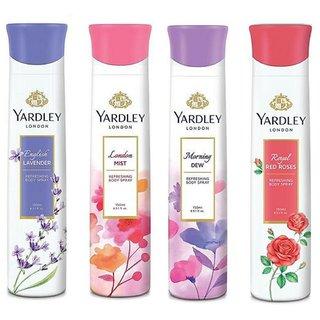 Yardley Deodorants Women Pack-4