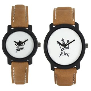 HRV Exclusive COMBO OF KING AND QUEEN Analog Watch For COUPLE