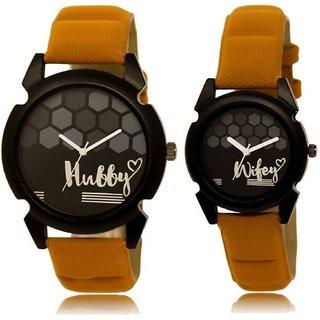 Loretta Black And White Quartz Couple Watch