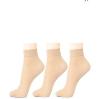 Ladies Skin Colour Socks Pack of 5