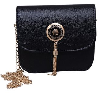 Royal black sling bag for sexy girls females (SL-073)