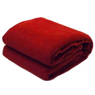 SNS Maroon Abstract Single Bed Fleece Blanket (240 cm x 150 cm) - Set Of 1