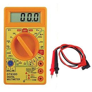 Digital Multimeter for Continuity Current  Voltage Measurement Safe  Accurate