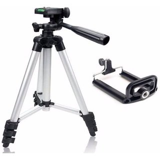 Tripod- 3110 Fordable Tripod with Mobile Clip Holder Bracket