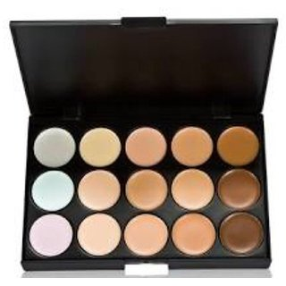 Branded 15 shades concealer and contour palette