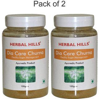 Herbal Hills Dia Care Churna - 100 gms - Pack of 2