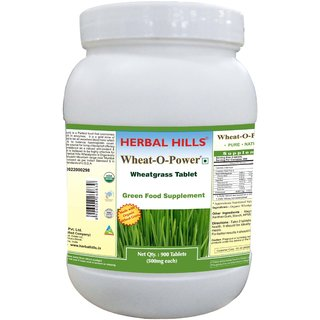 Herbal Hills Wheatgrass - Value Pack 900 Tablets
