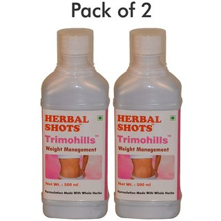 Herbal Hills Trimohills Herbal Shots 500ml (Pack of 2)