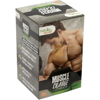 Nature Sure Muscle Charge Tablets for Men  1 Pack (60 Tablets)