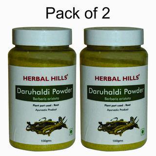 Herbal Hills Daru Haldi Powder - 100 gms - Pack of 2