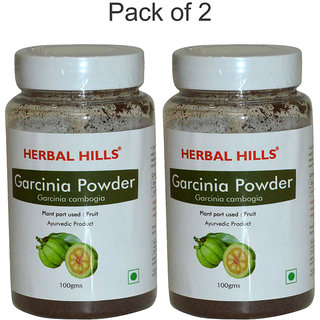 Herbal Hills Garcinia Powder - 100 gms - Pack of 2