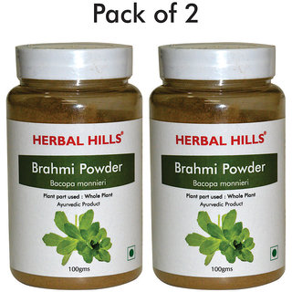 Herbal Hills Brahmi Powder - 100 gms - Pack of 2