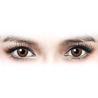 Diamond Eye Hazel Colour Yearly(Zero Power) Contact Lens