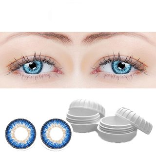 TruOm Blue Colour Monthly(Zero Power) Contact Lens Pair