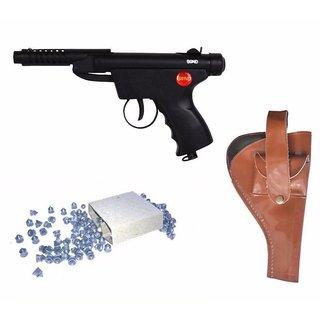 Prijam Air Gun Bsm-2 Model With Metal Body For Target Practice Combo Offer 300 Pellets With Cover  Air Gun