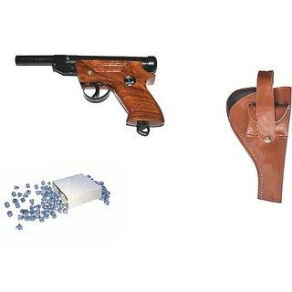 Prijam Air Gun Pdw-007 Model With Metal Body For Target Practice Combo Offer 300 Pellets With Cover  Air Gun