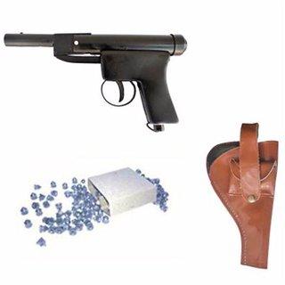 Prijam Air Gun Bbm-007 Model With Metal Body For Target Practice Combo Offer 300 Pellets With Cover  Air Gun