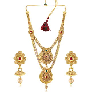 Sukkhi Ritzy Gold Plated Dual Necklace set for women