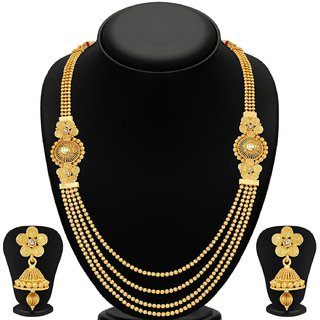 Sukkhi Alloy Gold Plated Wedding Necklace Set For Women