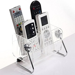 Remote Control Holder  Modern Multifunction Transparent Acrylic Detachable Rotation Storage Box Customizable in 6 Slots