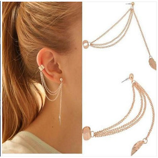 Loopinzshop Gold Plated Gold Alloy Dangle Earrings for Women