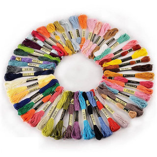 50 Skeins Embroidery Floss Embroidery 8m 6-ply Multicolour Colourfull