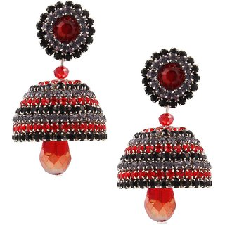 Traditional Handcrafted Fancy Artifcial Diamond Chain Jhumka
