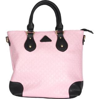 Venicce Pink Self Design Handbag