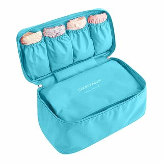 House of Quirk Women's Bra Storage Bag For Underwear Clothes Lingerie Organizer Suitcase Case Waterproof Cosmetic Pouch Travel Accessories