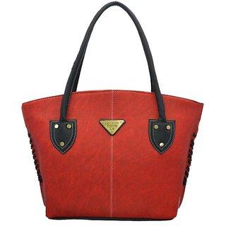 Lady Queen Red P.u Zipper Shoulder Bag
