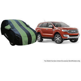 Autofurnish Stylish Green Stripe Car Body Cover For Tata Hexa -  Arc Blue
