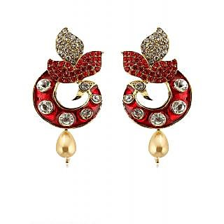 Rizir Fashion Women's Pink Stones And Metal Alloy (Pack of 1)
