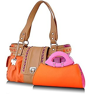 Butterflies Multicolor Plain Handbag