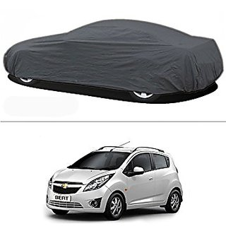 Autofurnish Silver Car Body Cover For Chevrolet Beat - Silver