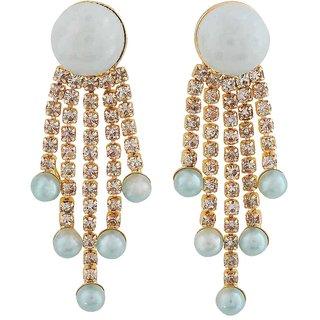 Maayra Cocktail Designer Earrings Blue Dangler Drop Party Jewellery