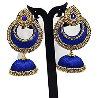handmade silk thread earring jhumka for girls